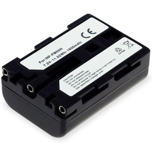 Batteri för Sony DSC-F707, -F717, -F828, DSC-R1, DSLR-A100, DSC-S30, -S50, -S70, -S75, MVC-CD250, Cyber-Shot - NP-FM55H,NP-FM50,NP-QM51 (1600mAh)