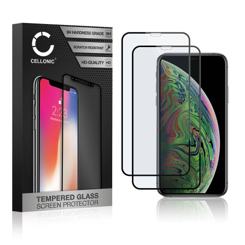 2x Screen protector glass iPhone Xs (3D Case-friendly, 9H, 0,33mm, Full Glue) Tempered Glass