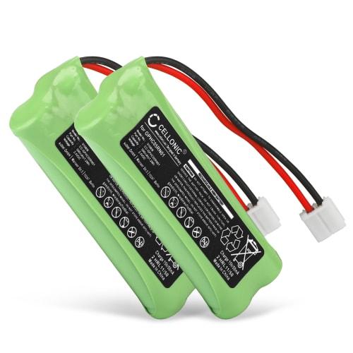 2x Batterie pour Audioline Monza, Medion Life S63062, S63065, MD82973, MD93035, Swissvoice DP500 Eco Plus, DP550 Eco Plus BT - GPHC05RN01 (500mAh) Batterie de remplacement