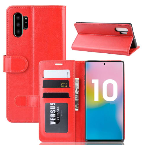 Flipcase voor Samsung Galaxy Note 10 Plus (SM N975) Galaxy Note 10 Plus 5G (SM N976) PU Leather, rood Tasje, Zakje, Zak, Hoesje