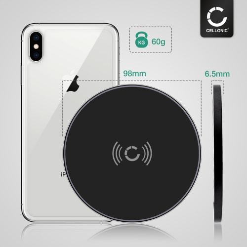 Trådlös snabbladdare för Qi aktiverade enheter Huawei P30, P30 Pro, Mate 20 Pro Apple iPhone 11 Samsung Galaxy S10, Note 10 Google Pixel 3 LG
