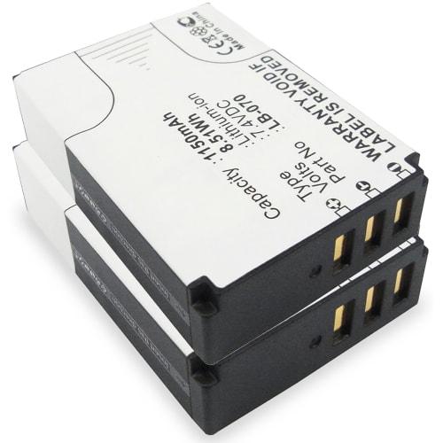 2x Batteri til Kodak PixPro AZ651 Astro Zoom, PixPro AZ652 PixPro AZ901 Pixpro S-1 PixPro S1 - LB-070 1150mAh Udskiftsningsbatteri