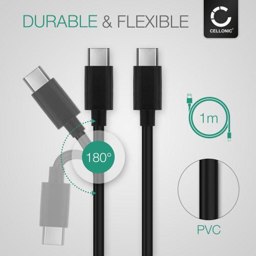 Datakabel til Sony Xperia 10, 10 Plus 1 XZ3, XZ2 XZs, XZ1 L1, L3 XA1, XA1 Ultra X, XA2 1m, 3A (PD 60W) USB kabel ladekabel opladerledning,