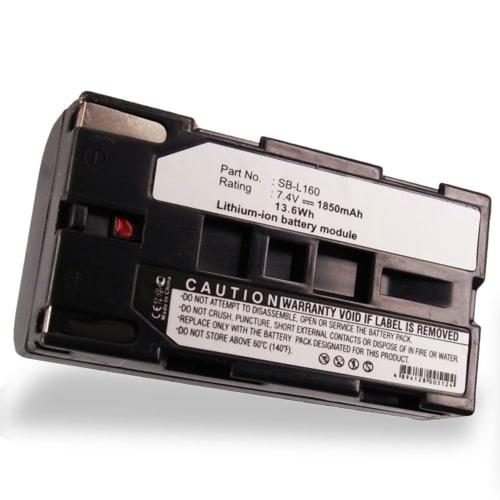 Batteria per Samsung SC-L906 -L810 -L700 SC-D23 VP-W80 -W60 VP-M50 VP-L800 -L700 -L600 -L600 - SB-L110A, -L160, -L320, -L480 1850mAh , batteria di ricambio