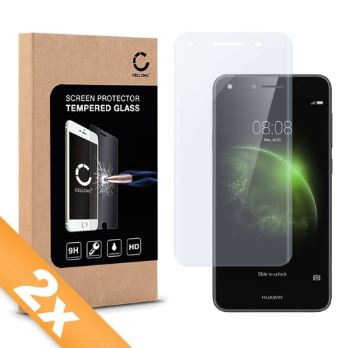 2x Protection d'écran en verre pour Huawei Y6 II / Y6 2 Compact - Tempered Glass (Qualité HD / 3D Full Cover / 0,33mm / 9H)