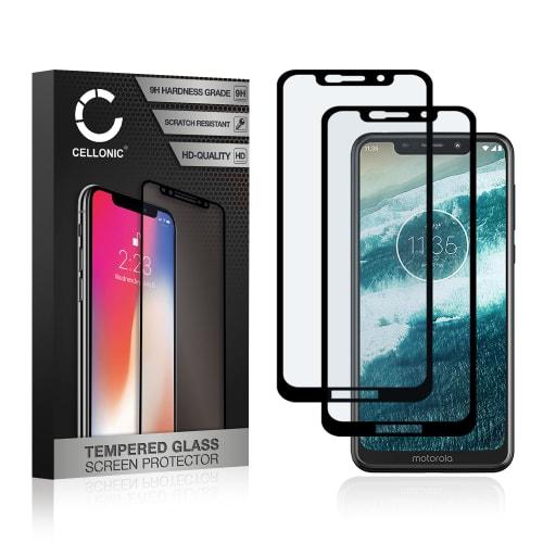 2x Screen protector glass Motorola One (3D Full Cover, 9H, 0,33mm, Full Glue) Tempered Glass