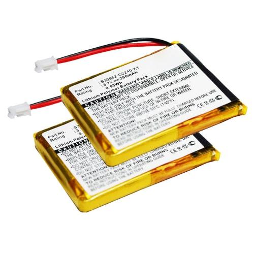 2x Batteria per Siemens Gigaset L410 - F39033-V328-C901,S30852-D2240-X1,V30145-K1310-X448 (250mAh) batteria di ricambio