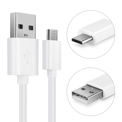 Qualcomm 3.0 Lader med Micro USB kabel Hvit Elektronikk