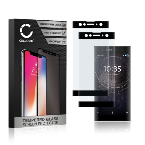 2x Panzerglas Sony Xperia XA2 Ultra (3D Full Cover, 9H, 0,33mm, Edge Glue) Displayschutz Tempered Glass