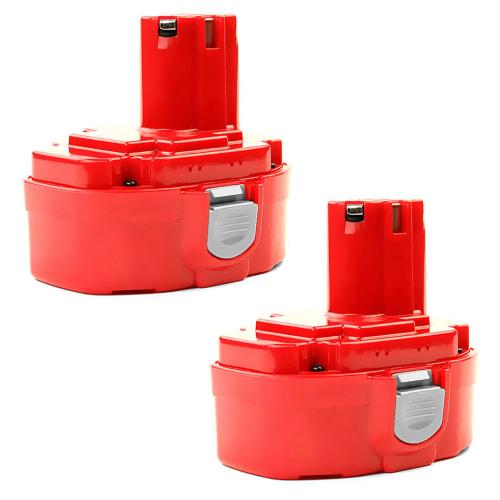 2x Batterij 18V, 3Ah, NiMH voor Makita 4334D / 5621RD / 6343D / 6349D / 6390D / 6391D / 6936FD / 8390D - 1822, 1833, 1834, 1835 vervangende accu
