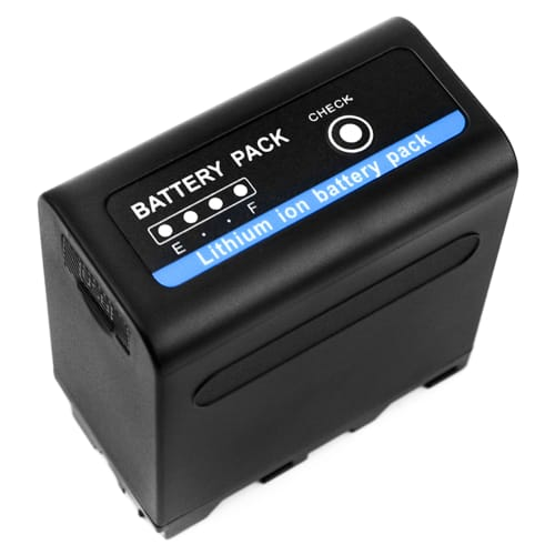 Batteri til Sony DSR-PD150, -PD170, FDR-AX1, DCR-VX2100, GV-D200, HDR-FX7e, -FX1, -FX1000 - incl. USB-Out 2.4A - NP-F960 NP-F970 10200mAh , udskiftsningsbatteri