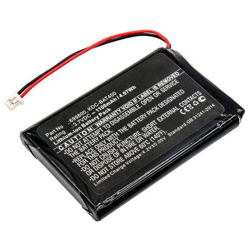 Batteria per KoamTac KDC30 KDC350 KDC350R2, KoamTac KDC400 KDC410 KDC411 KDC420 KDC421 KDC450 - 699800,KDC-BAT400,KDCSPB1200 (1100mAh) batteria di ricambio