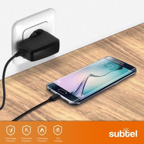 Micro USB 5V // Micro USB 2A // 2000mA Chargeur C/âble Secteur Noir Compatible avec Dell Venue 7//8 // 8 Pro // 10 Pro Tablet subtel/® Chargeur de Qualit/é 1.2m