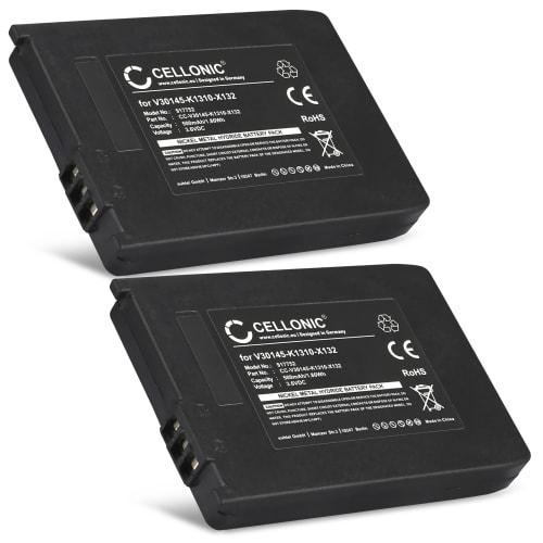 2x Batterie pour Siemens Gigaset 4000 Micro, 4010, 4015, Gigaset SL3501, Telekom Sinus 710, Sinus 700M - V30145-K1310-X132 (500mAh) Batterie de remplacement