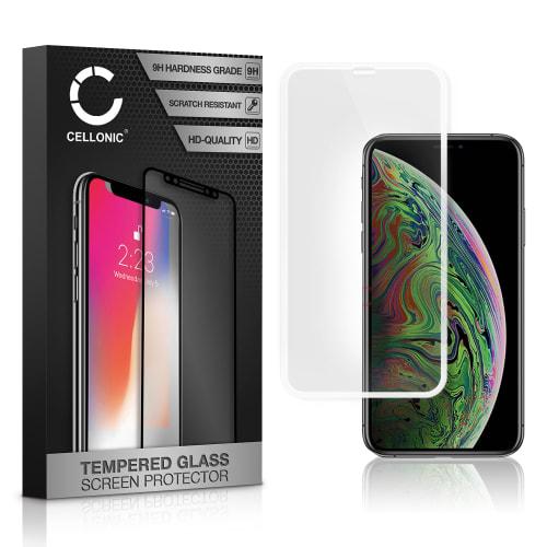 Displaybeschermglas Apple iPhone Xs (3D Full Cover, 9H, 0,33mm, Full Glue) Tempered Glass