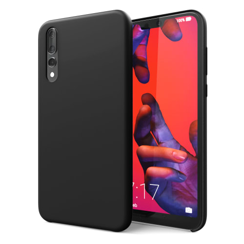 Hoesje Huawei P20 Pro Siliconen zwart Case Cover Back Cover