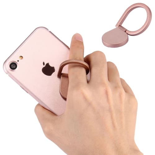 Soporte de anillo de dedo para teléfonos, rosado