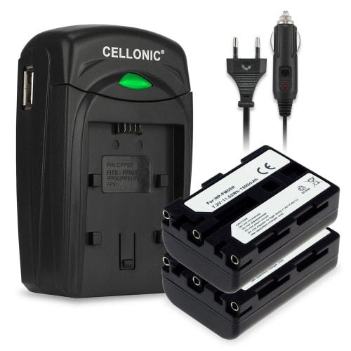 2x Battery for Sony A100 DSC F717 F828 DSC R1 DSC S75 MVC CD250 CD500 DCR TRV17 TRV20 CCD TRV108 replacing NP FM55H NP FM50 NP QM51, 1600mAh +