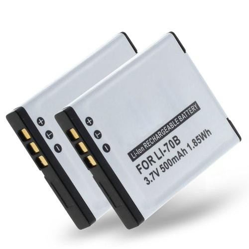 2x Batteri för Olympus FE-4040 FE-4020 FE-5040 VG-120 VG-130 VG-140 VG-110 VG-150 - LI-70B 500mAh ,