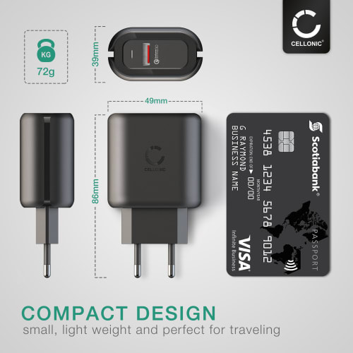 USB Lader for Samsung, Apple, Huawei, Xiaomi, Sony, med