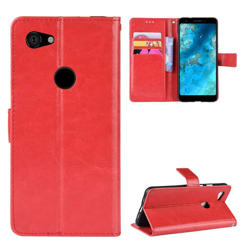 Case for Google Pixel 3a XL - PU Leather, Red Case