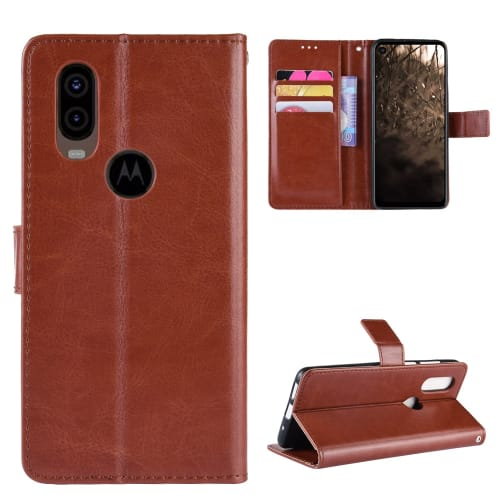 Case for Motorola One Vision - PU Leather, Brown Case