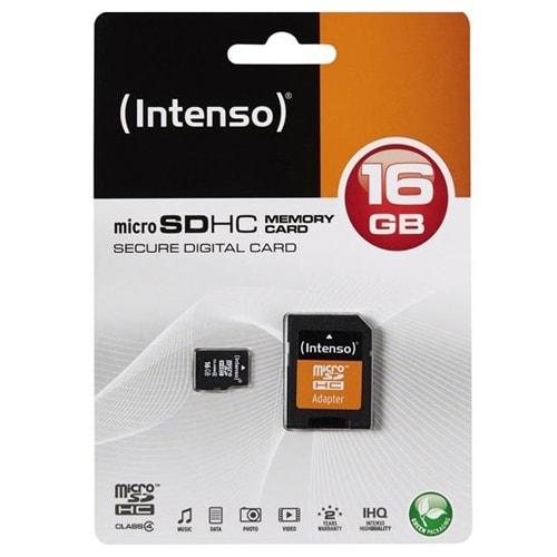 microSDHC Geheugenkaart 16GB Class 4 van Intenso