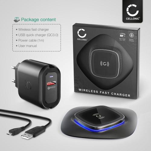 Trådlös snabbladdare för Qi aktiverade enheter Huawei P30 Pro, Mate 20 Pro Apple iPhone 11 Samsung Galaxy S10, Note 10 Google Pixel 3 LG G6