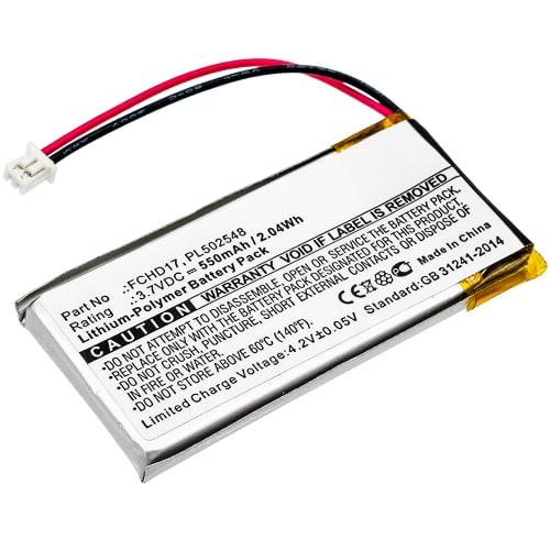 Batteria per ACME CarC, ACME FlyCamOne 720p FlyCamOne HD - FCHD17, PL502548 550mAh , batteria di ricambio