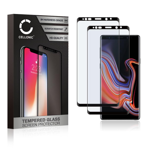 2x Displaybeschermglas Samsung Galaxy Note 9 (SM-N960) (3D Full Cover, 9H, 0,33mm, Full Glue) Tempered Glass