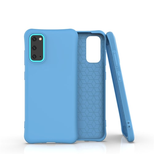 Back Cover for Samsung Galaxy S20 (SM-G980) - Silicone, Light Blue Case