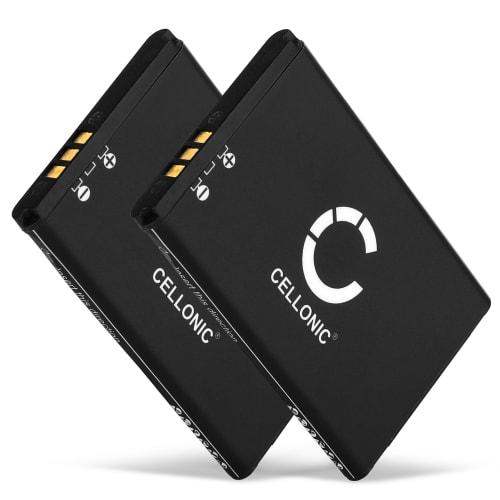 2x Batterie pour Swissvoice ePure / ePure fulleco DUO - 043048,C0487,SV20405855 (650mAh) Batterie de remplacement