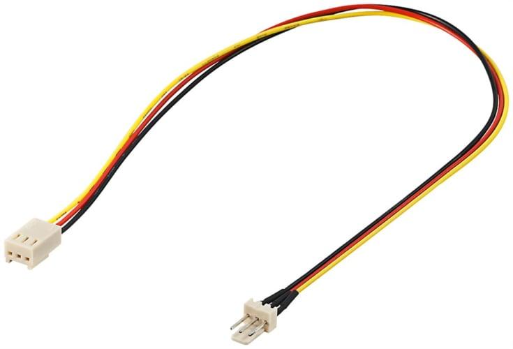 PC Lüfter Stromkabel Verlängerung - Lüfter-Stecker (3-Pin) > Lüfter-Buchse (3-Pin)
