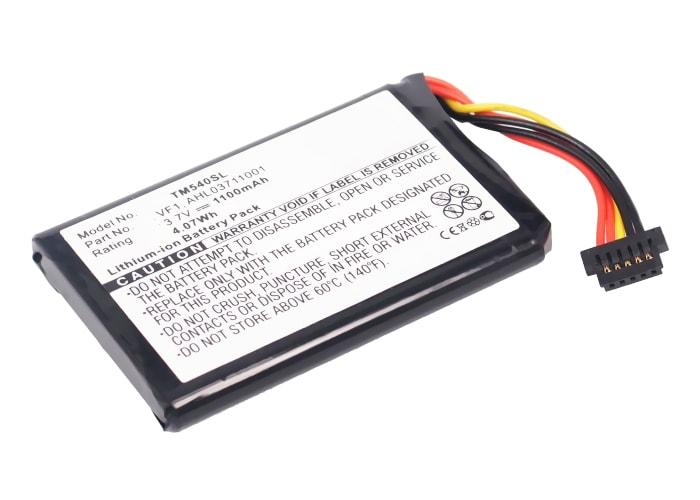 Batterie pour TomTom 4CF5.002.00, TomTom GO 540 Live - AHL03711001,VF1 (1100mAh) Batterie de remplacement