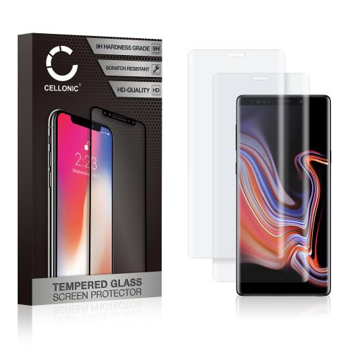 2x Screen protector glass Samsung Galaxy Note 9 (SM-N960) / Note 9 Dous (SM-N960) (3D Full Cover, 9H, 0,33mm, Edge Glue) Tempered Glass
