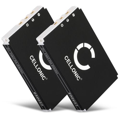 2x Akku für Logitech Harmony 1000 Remote 1100 1100i 915 Squeezebox - 190582-0000,F12440056,K398,L-LU18 (1300mAh) Ersatzakku