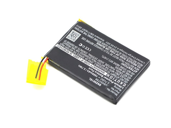 Battery for Sony NWZ-ZX1 - US453759 (1000mAh) Replacement battery