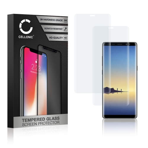 2x Screen protector glass Samsung Galaxy Note 8 (SM-N950 / SM-N950F) (3D Full Cover, 9H, 0,33mm, Edge Glue) Tempered Glass