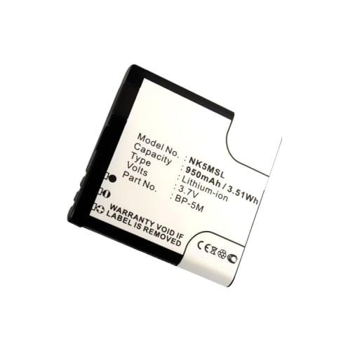 Akku für Nokia 6110 / 6220 classic / 6500 Slide / 5610 / 5700 / 7390 / 8600 (900mAh) BP-5M