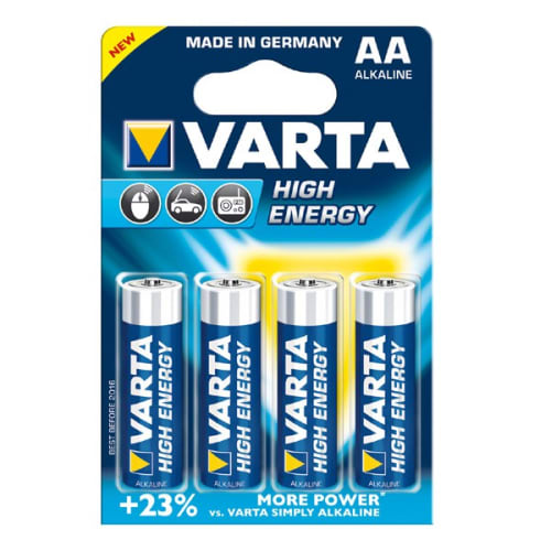 Batteries AA Varta High energy Alkaline Varta 4906 4x LR6, LR06