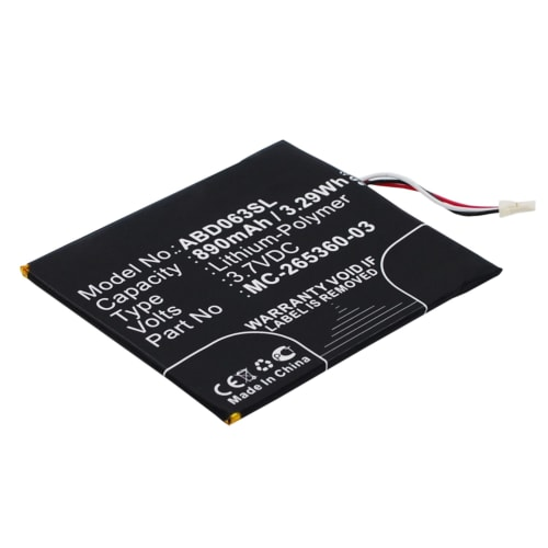 Battery for Amazon Kindle 7. Generation / 8. Generation - 58-000083 (890mAh) Replacement battery