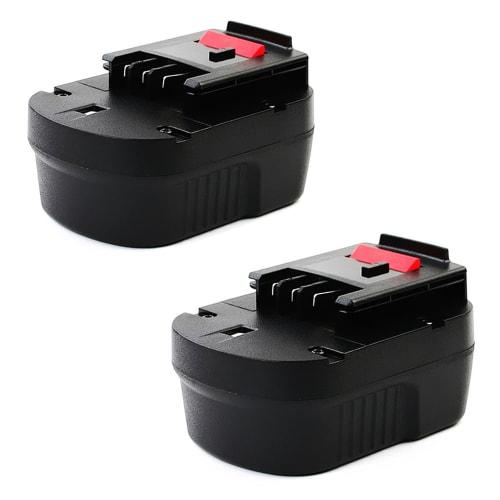 2x Batterij 12V, 2.1Ah, NiMH voor Black & Decker CD12S / CL12 / CP12 / CP121 / CP122 / EPC12 / EPC126 / EPC128 - A12, A12E, HPB12 vervangende accu