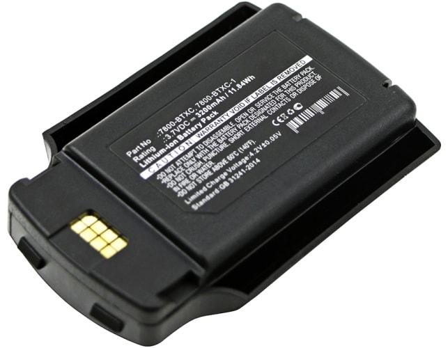 Batterij voor Honeywell Dolphin 7600 Dolphin 7600 II - 7600-BTEC (3200mAh) vervangende accu