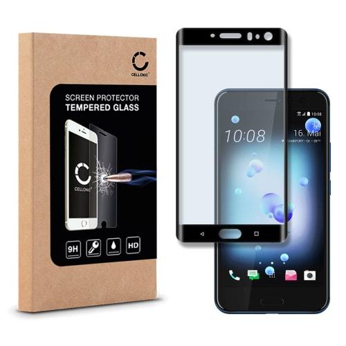 Displaybeschermglas voor HTC U11 - Tempered Glass (HD kwaliteit / 3D Full Cover / 0,33mm / 9H)