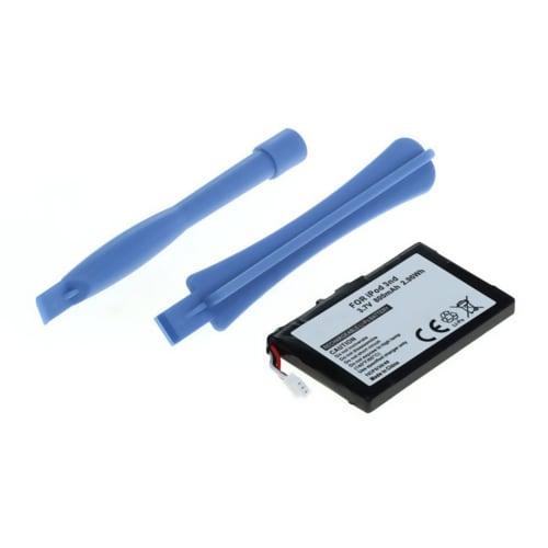 Akku varten Apple iPod 3 Gen. A1040 - 616-0159, E225846 (800mAh) VaihtoakkuVaraparisto Sisältää 2x muovivipuja