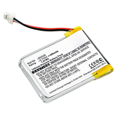 Batterie pour Mitac Mio Mivue 388 - 1ICP6/26/36 582535 (450mAh) Batterie de remplacement