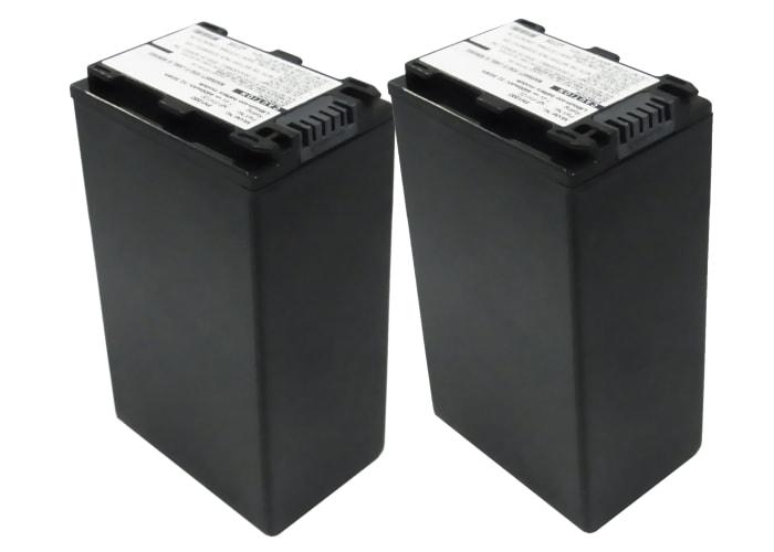 2x Batterie pour Sony DCR-SR32 -SR35 -SR37, DCR-SX30, HDR-SR11 HDR-SR12, HDR-CX105, HDR-HC9, DCR-HC23 - NP-FH40,-FH50,-FH60,-FH70 (4400mAh) Batterie de remplacement