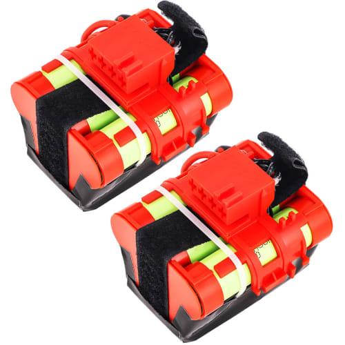 2x Batterie 18.5V, 1500mAh, Li-Ion pour Husqvarna Automower 105, 305, 308 / McCulloch R40, R50, R80, Rob R600 - 589 58 61-01, 586 57 62-02 Batterie Rechange