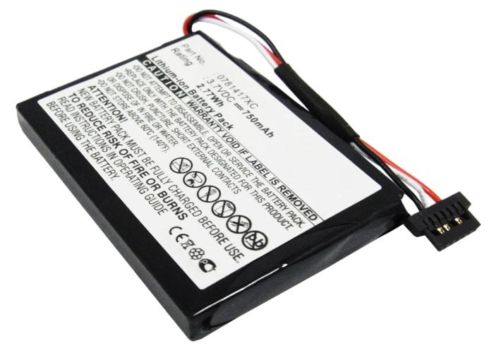 Batterie pour Mitac Mio Moov 300 301 310 330 330u 350 360 360u 370 330e - 0781417XC (750mAh) Batterie de remplacement