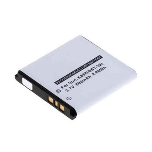 Battery for Sony Ericsson W995 / W580i / C902 / C510 / C905 / R300 / K850i / T303 - BST-38 (800mAh) , Replacement battery